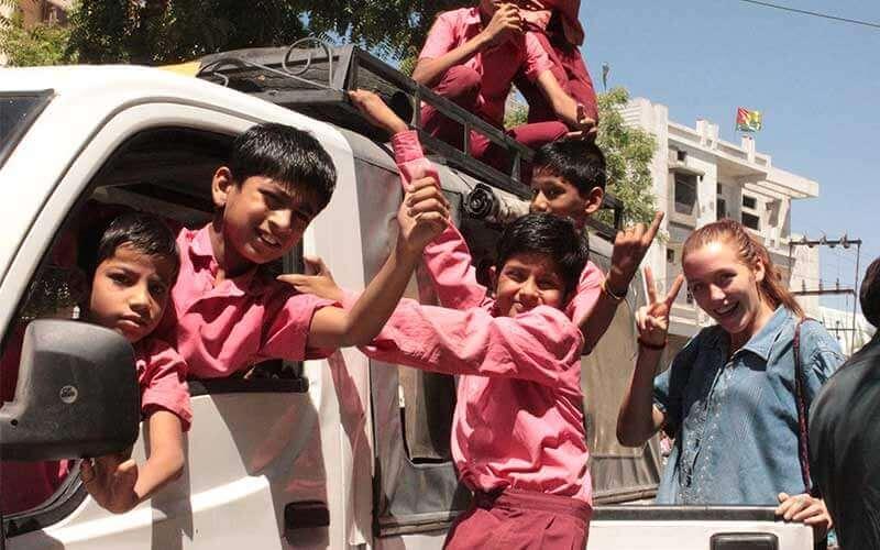 voluntariado en la India ASTEX