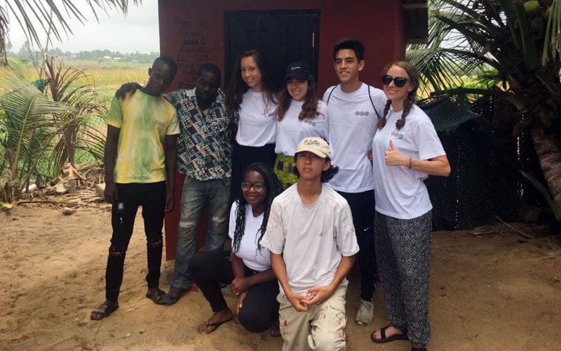 voluntariado internacional Ghana para jóvenes con americanos