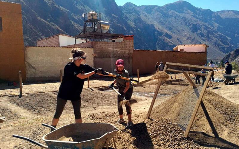 voluntariado en Perú para jóvenes convivencia con americanos ASTEX