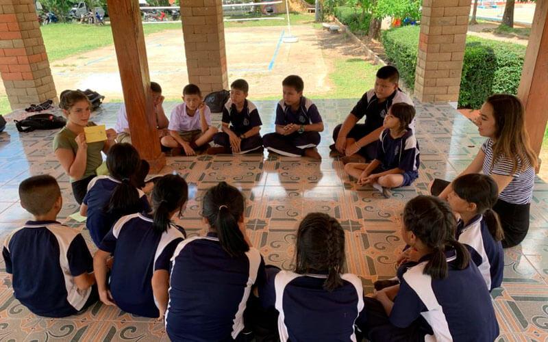 voluntariado en Tailandia proyecto de enseñanza con niños locales ASTEX