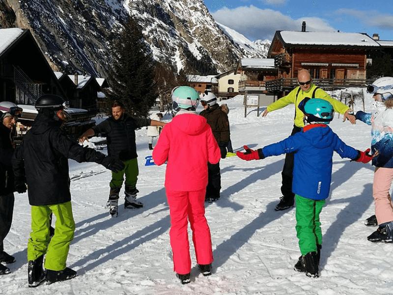 Curso de francés y esquí en Suiza